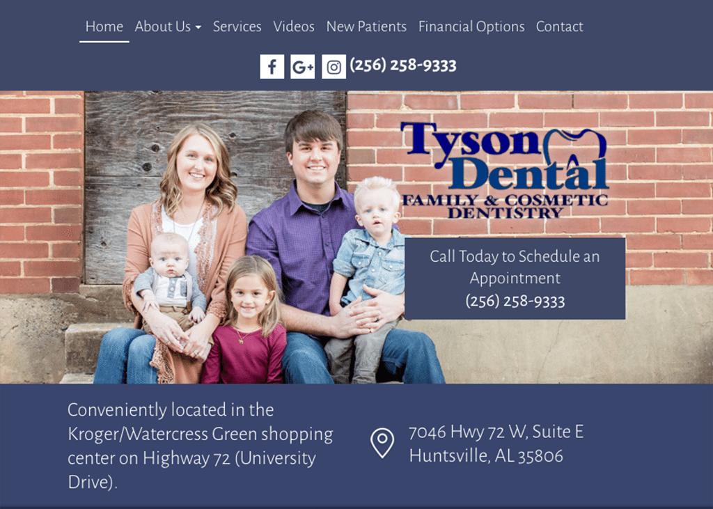 Tson Dental Website designed by Optimized360