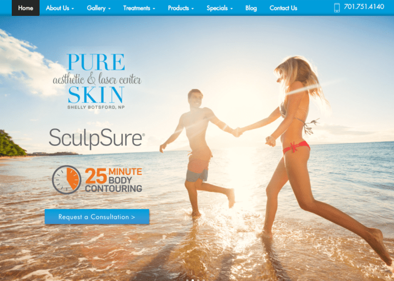 Cosmetic Surgery Website Designed by optimized 360