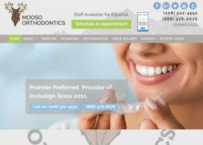 Mooso Orthodontics website Designed by Optimized360