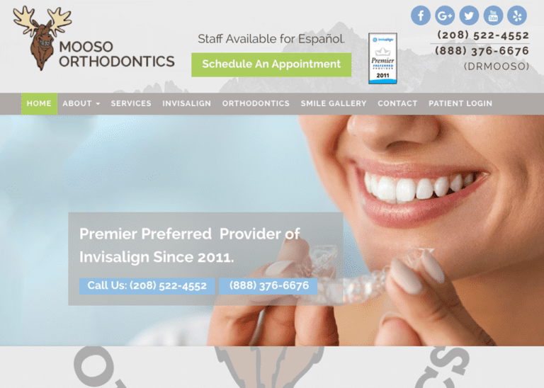 Mooso Orthodontics website Designed by Optimized360