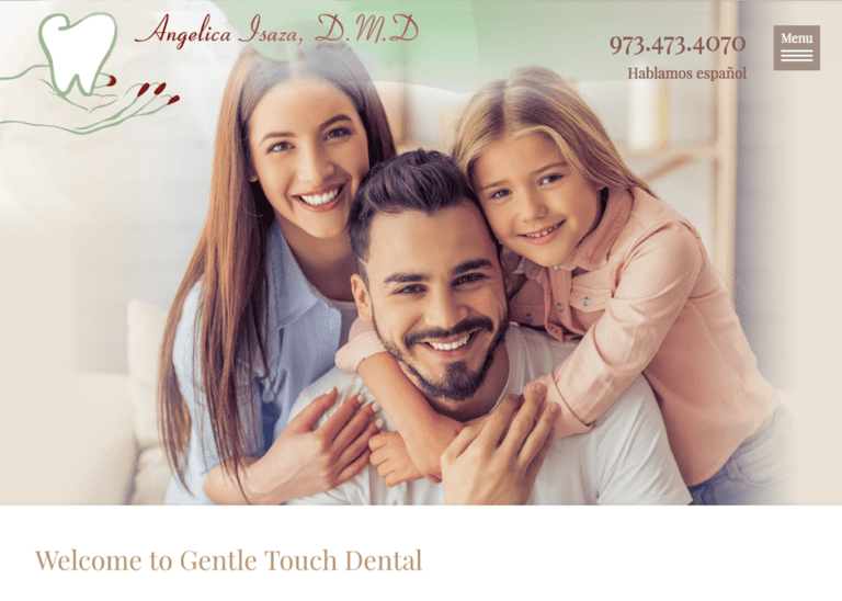 Dental Website designed by optimized 360