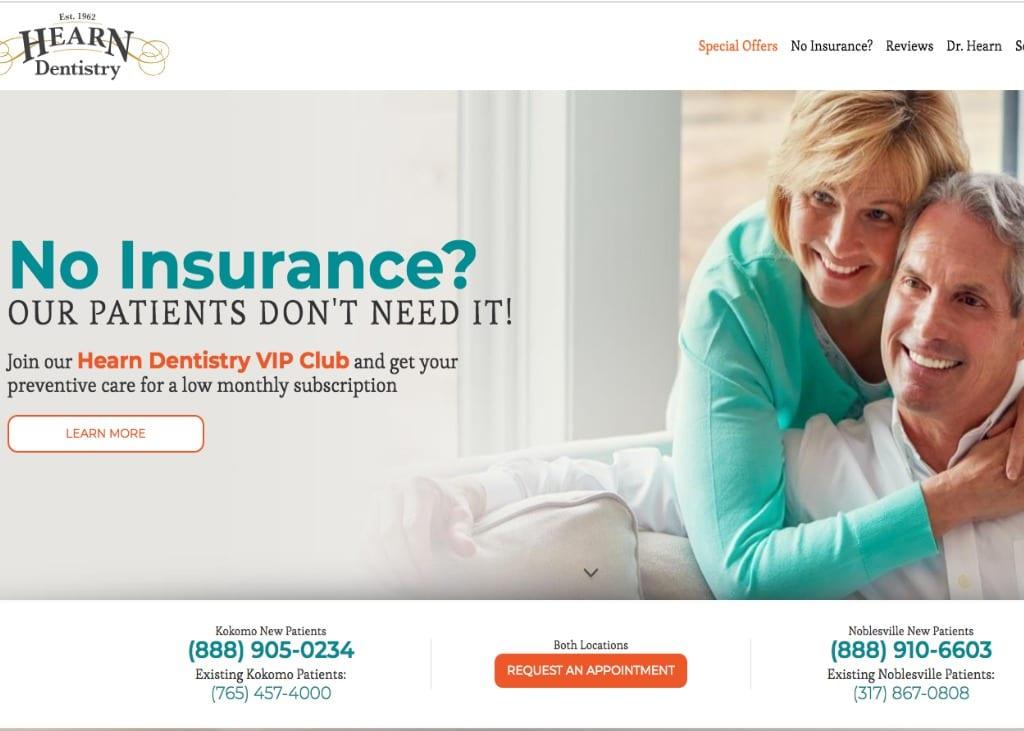 Hearn Dental Website Screenshot