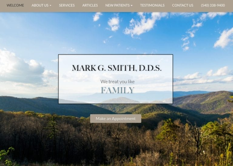 Mark Smith DDS Website Screenshot