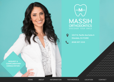 Massih Orthodontics website designed by optimized360