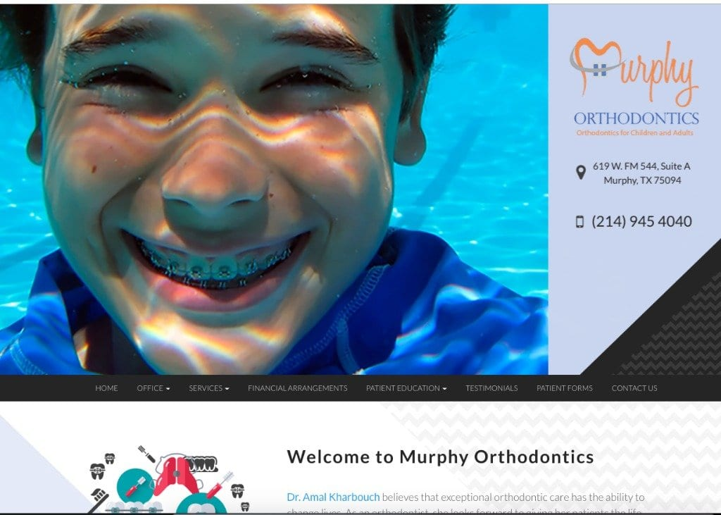 Murphy Orthodontics Website Screenshot