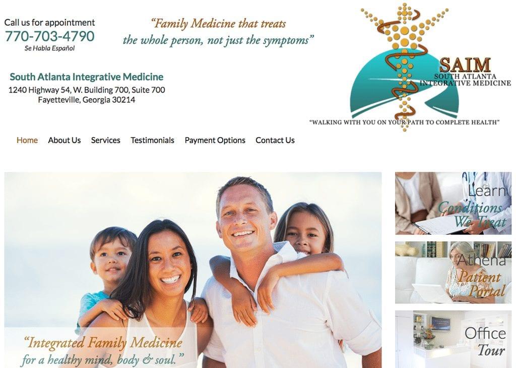 South Atlanta Integrative Medicine website designed by optimized360