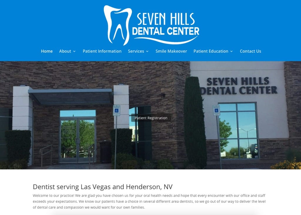 7 Hills Dental Website Screenshot