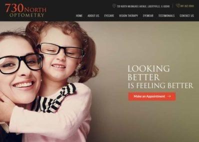 730 North Optometry Website Screenshot
