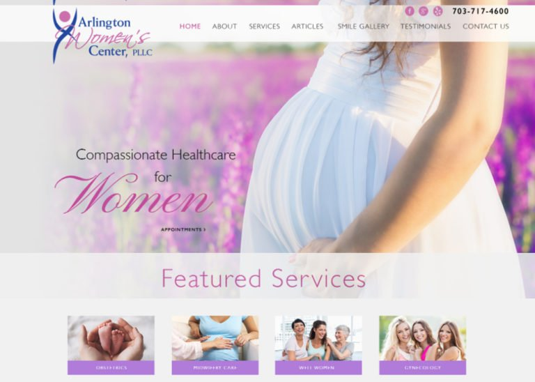 Arlington Womens Center Website