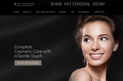 Website screenshot of Biltmore Dermatology designed by O360