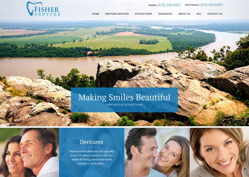 Fisher Denture & Dental Care Website