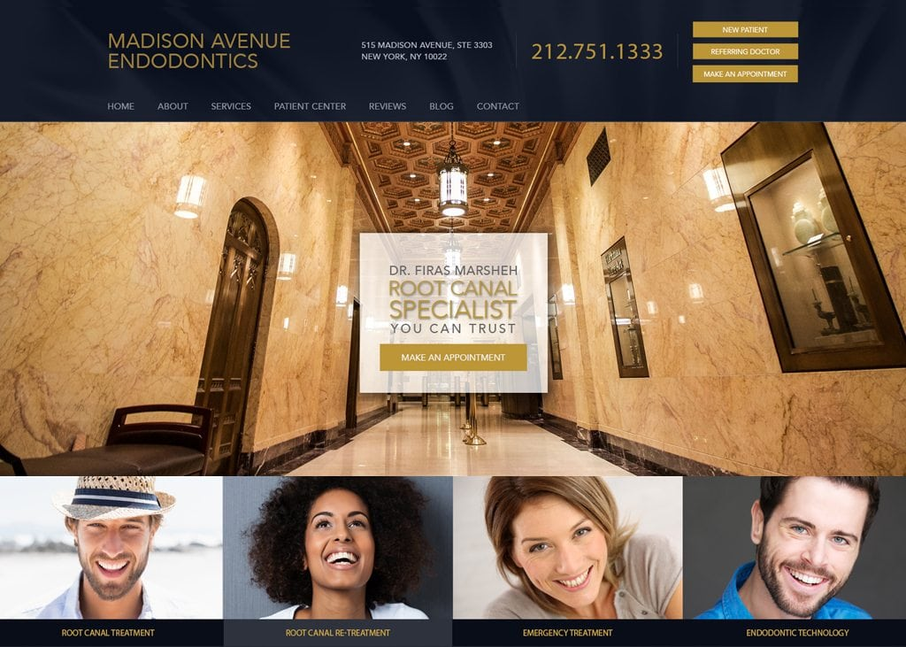 Madison Avenue Endodontics website