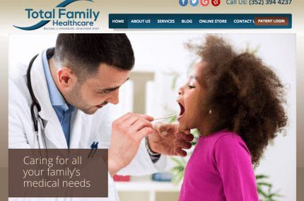 Total Family Healthcare website