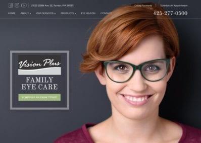 Vision Plus Website Screenshot