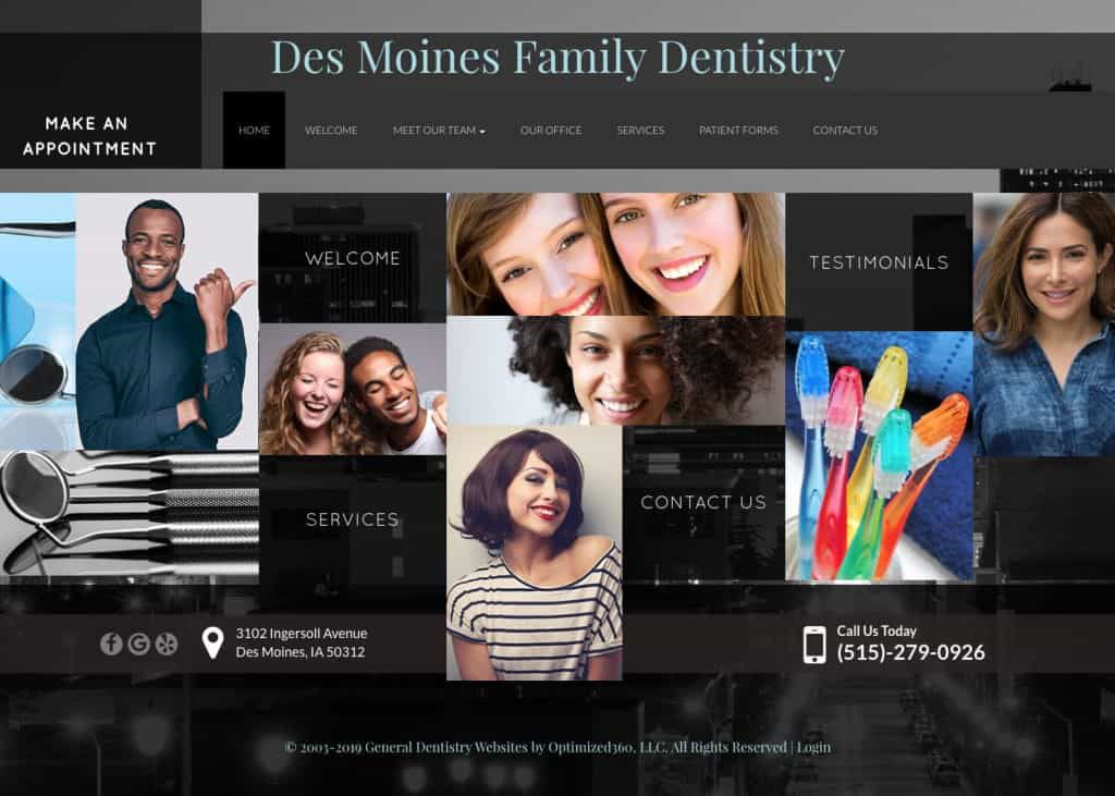 Des Moines Family Dentistry Website Screenshot