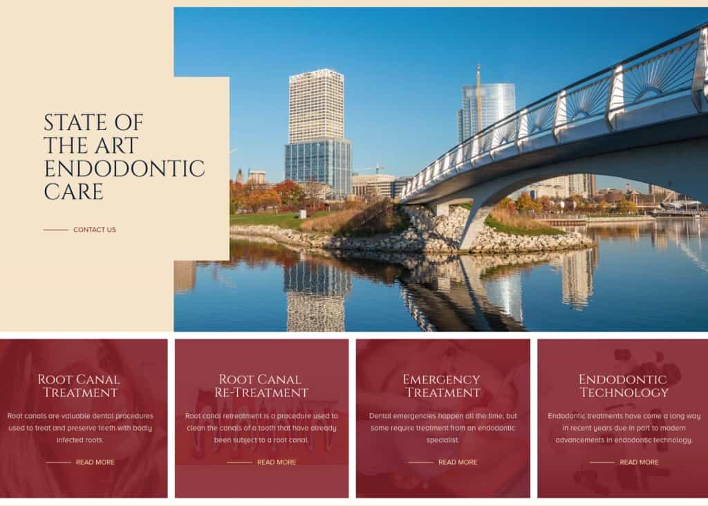 Wisconsin Endodontic Group Website Screenshot
