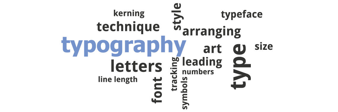 typography and fonts