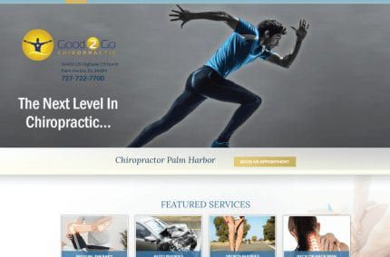Good2Go Chiropractic website
