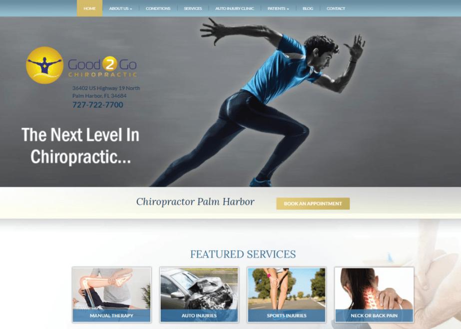 Good2Go Chiropractic website