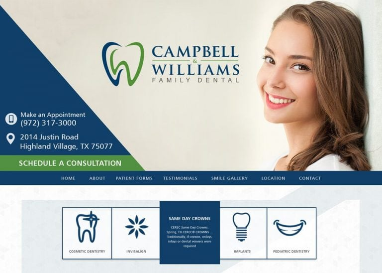 Campbell and Williams Family Dental Website