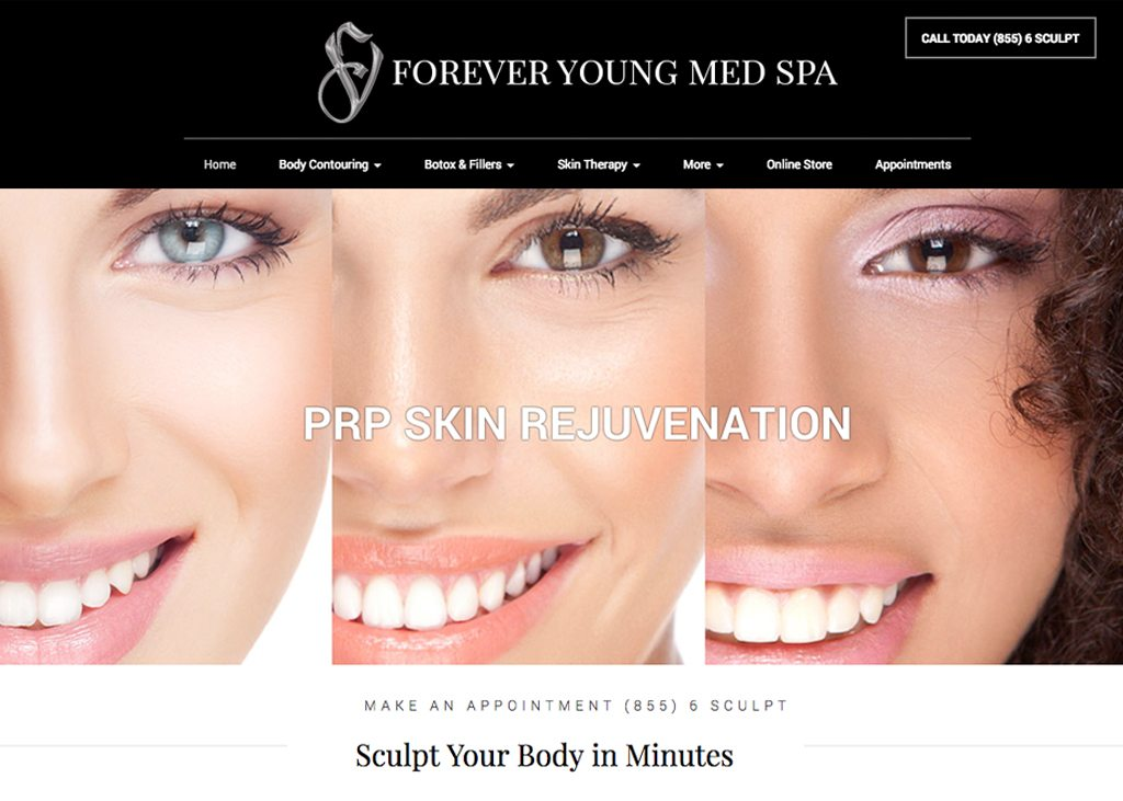 Forever Young Med Spa Website