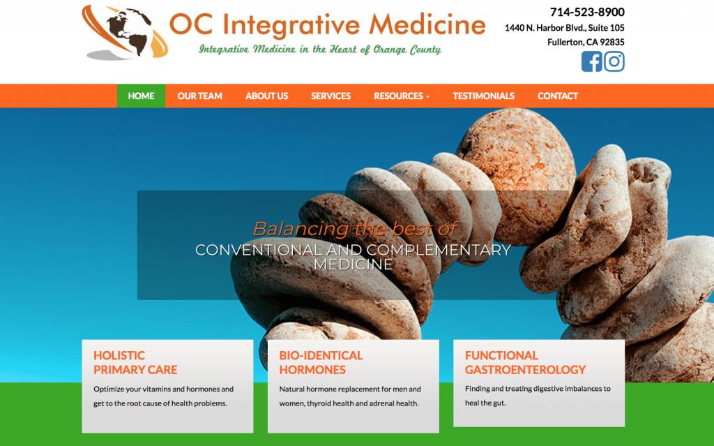 OC Integrative Medicine Website