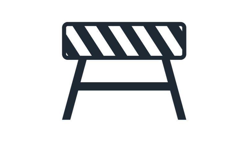 Road barrier icon flat. Vector illustration symbol and bonus pictogram