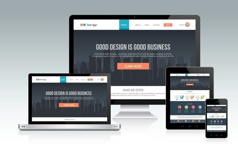responsive website on multiple devices