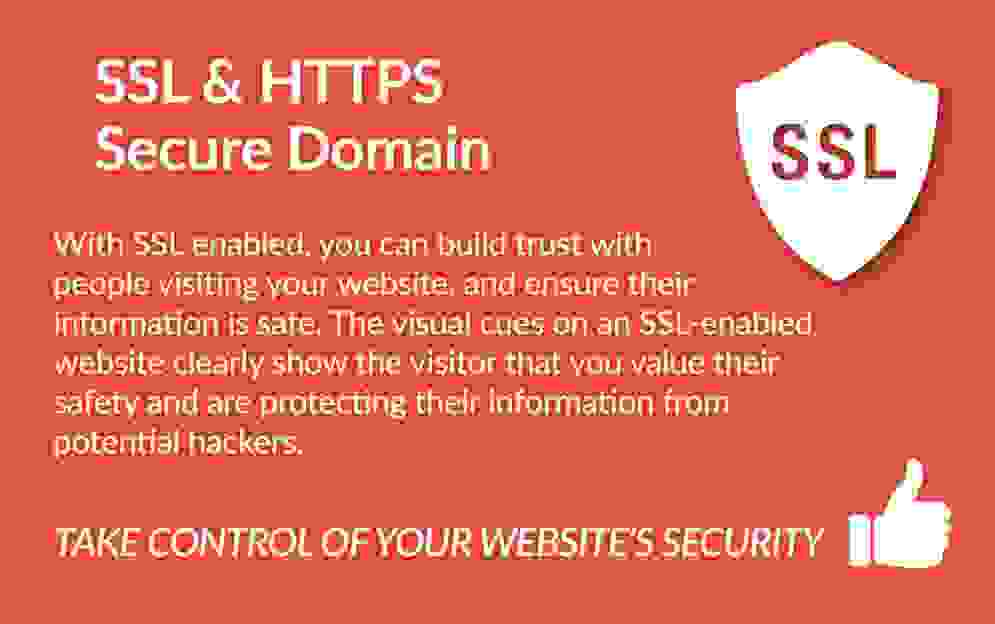 infographics showing the features of a website with SSL certificate