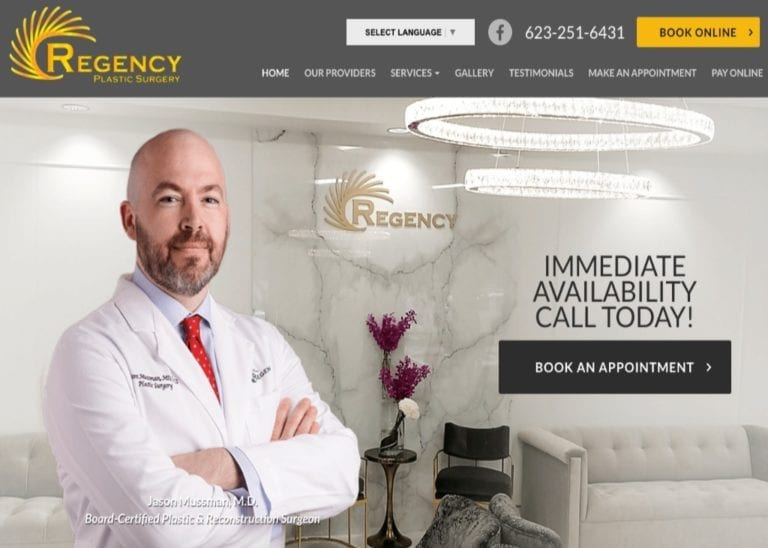 Plastic Surgery Phoenix AZ Website Screenshot