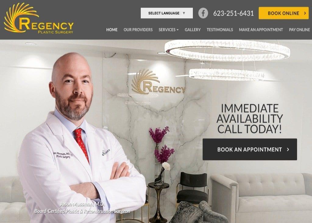 Plastic Surgery Phoenix AZ Website Screenshot