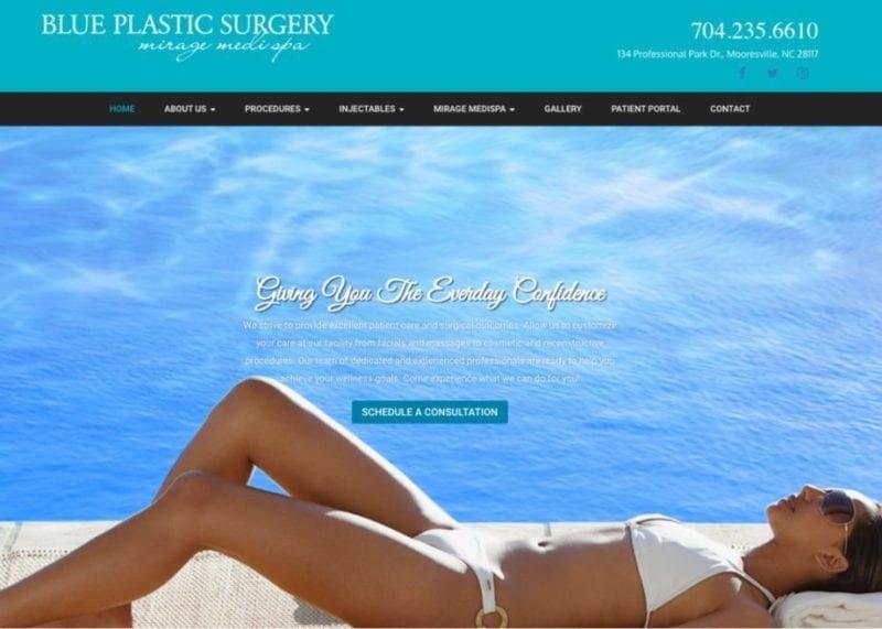 great plastic surgery website design