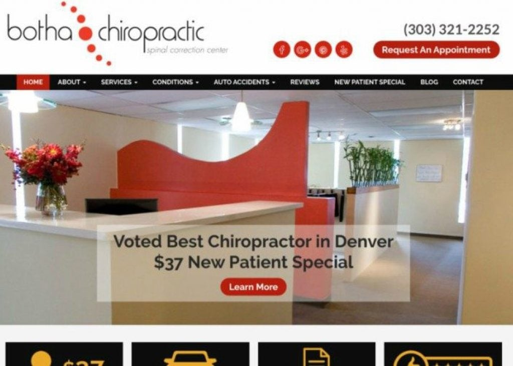 chiropractic website tips