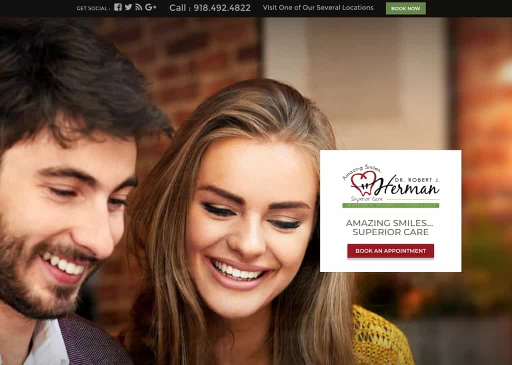 Herman Braces Website Screenshot