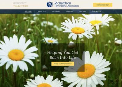 Richardson Psychiatric Associates Website Screenshot