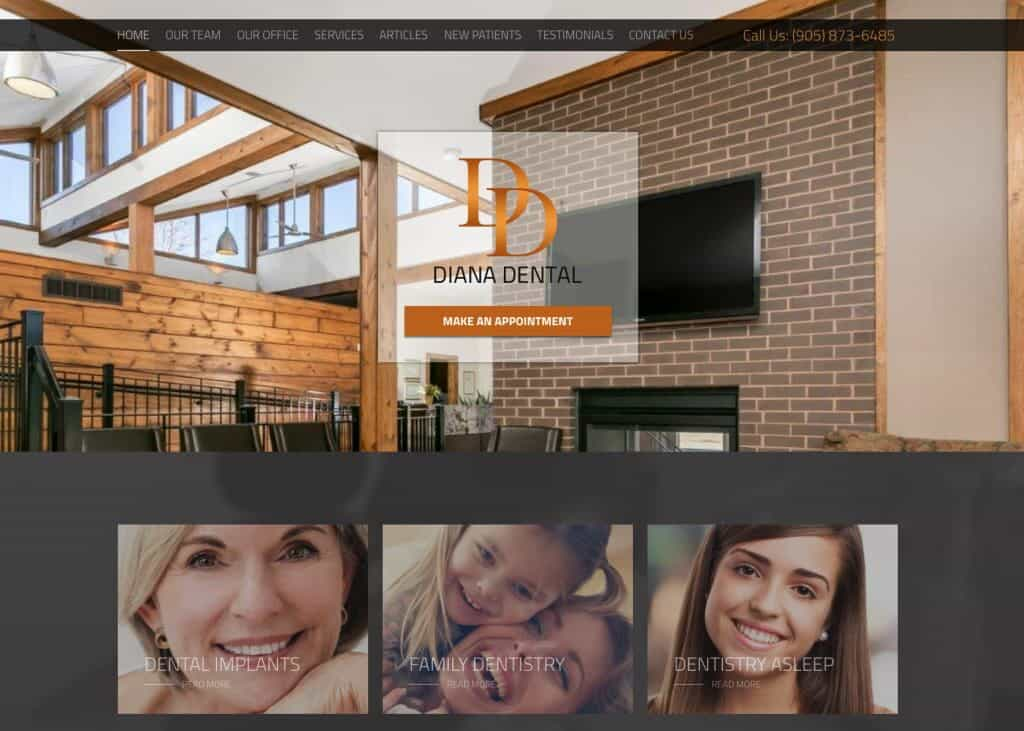 Diana Dental Website Image
