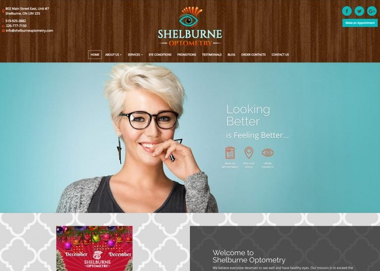 Shelbourne Optometry Website