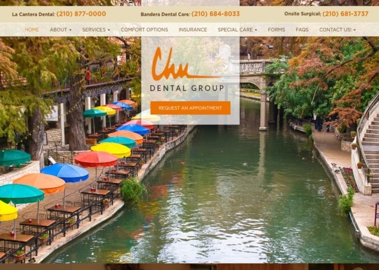 Chu Dental Group Website Screenshot
