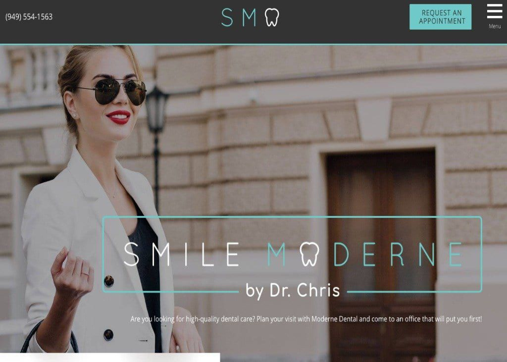 Smile Moderne Website Screenshot