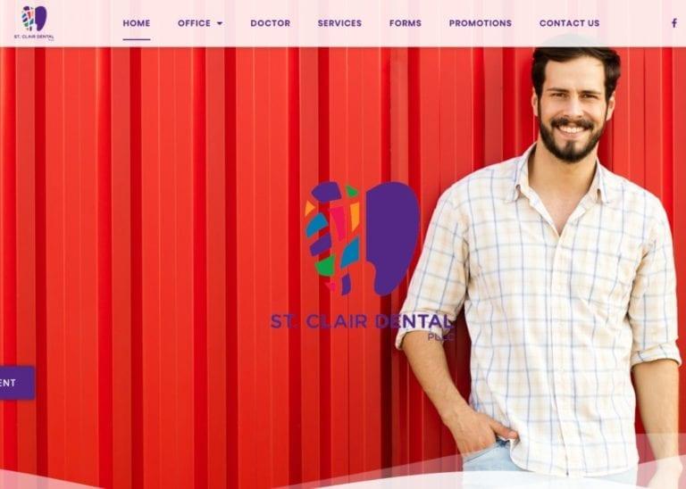 St. Clair Dental Website Screenshot