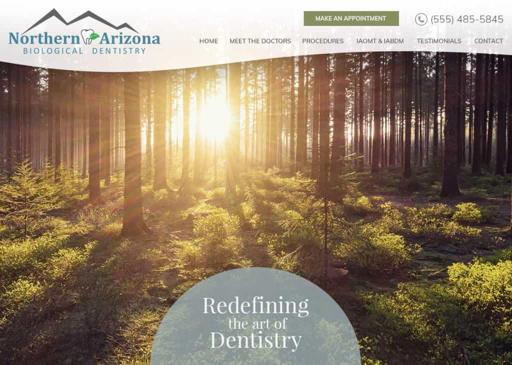 North AZ Dental Website Screenshot