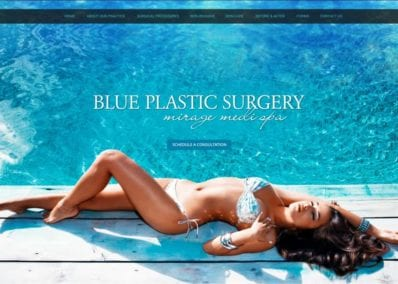Blue Plastic Surgery Website Screenshot