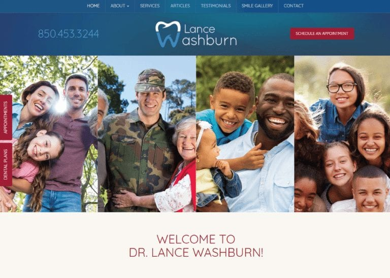 Lance Washburn Dental website