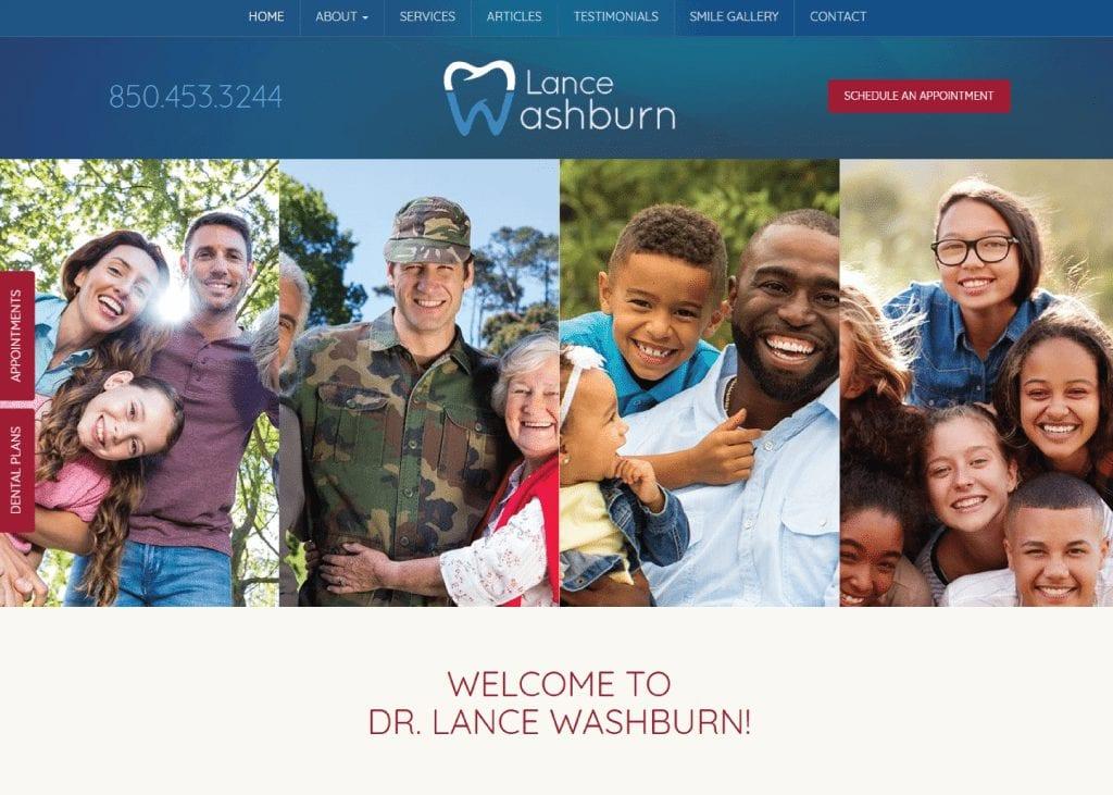 Lance Washburn Dental website