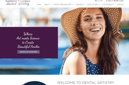 Sammons & Dr. Ann Laurent Dental Artistry website