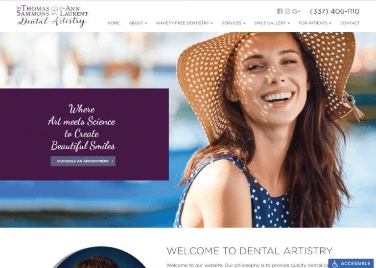 Sammons & Dr. Ann Laurent Dental Artistry website