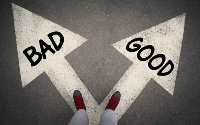 the choice between good and bad website designs