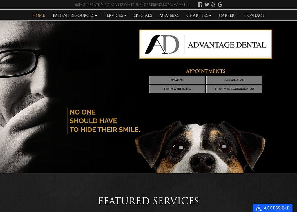 Advantage Dental Website