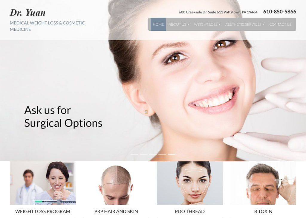 Dr. Yuan Medical Weight Loss & Cosmetic Medicine Website