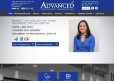 www.advancedperiodontics.com screenshot showing homepage of Advanced Periodontics Plymouth & Livonia, Michigan website